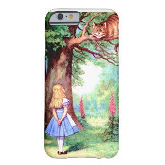 Alice e o gato de Cheshire no país das maravilhas Capa Barely There Para iPhone 6