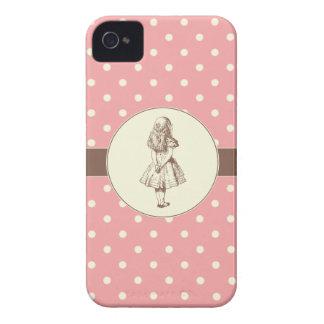 Alice em bolinhas do país das maravilhas capa de iPhone 4 Case-Mate
