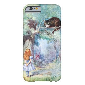 Alice no caso do iPhone 6 do gato de Cheshire do Capa Barely There Para iPhone 6
