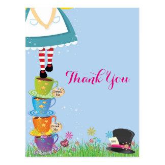 Alice no obrigado do país das maravilhas você cartão postal
