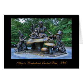 Alice no país das maravilhas - Central Park NYC Cartão Comemorativo