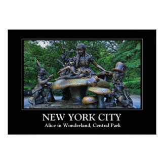 Alice no país das maravilhas - Central Park NYC Poster