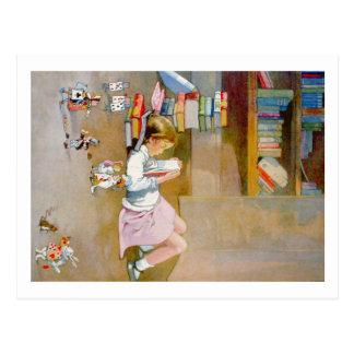 Alice toma uma viagem ao país das maravilhas cartão postal