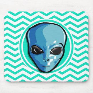 Alienígena Aqua Chevron verde