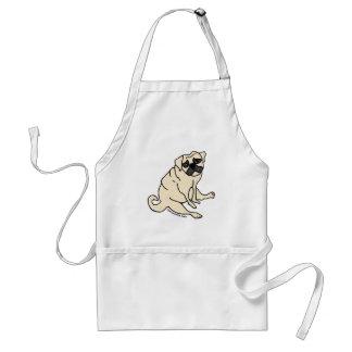 Alimente-me agora o avental do Pug