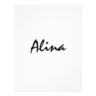Alina com significado celta flyer 21.59 x 27.94cm