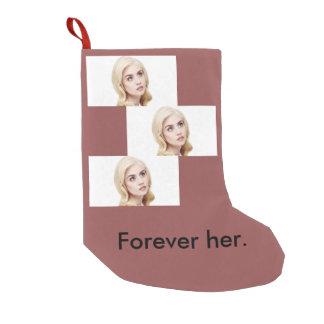 Allison Harvard para sempre seu ornamento Meia De Natal Pequena