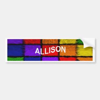 ALLISON (nomes fêmeas) Adesivo Para Carro