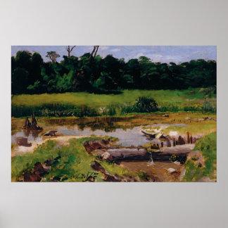 Almeida Júnior - paisagem Fluvial Pôsteres