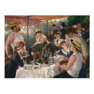 Almoço do partido do barco - Renoir Cartão Postal