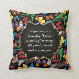 Almofada A felicidade é uma borboleta