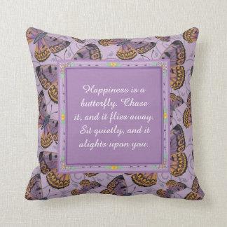 Almofada A felicidade é uma borboleta: Borboleta de cobre