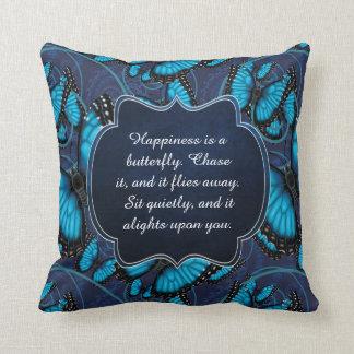 Almofada A felicidade é uma borboleta: Morpho azul
