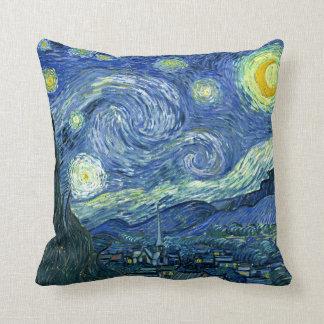 Almofada A noite estrelado