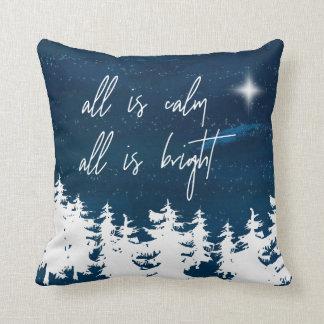 Almofada A noite estrelado toda é calma que tudo é Natal