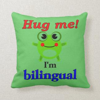 Almofada Abrace-me! Eu sou bilíngüe