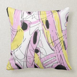 Almofada Abstrato 001 do rosa quente