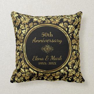 Almofada Aniversário de casamento elegante do preto & do