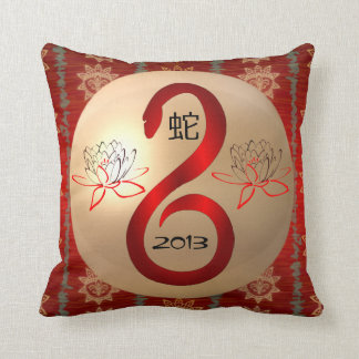 Almofada Ano do travesseiro reversível do cobra 2013