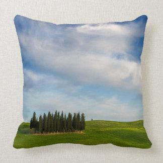 Almofada Árvores de Cypress no travesseiro decorativo de