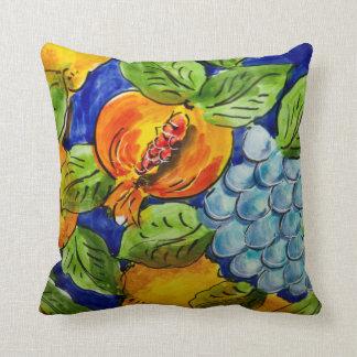 Almofada As frutas alaranjadas azuis do verde amarelo