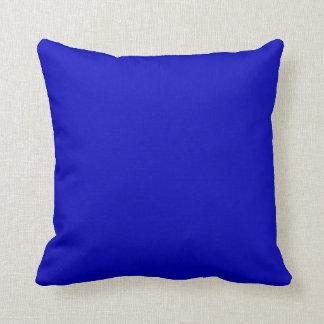 Almofada Azuis cobaltos da cor sólida