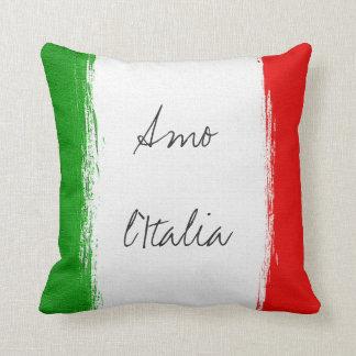 Almofada Bandeira de Italia. eu amo Italia