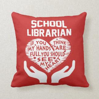 Almofada Bibliotecário de escola