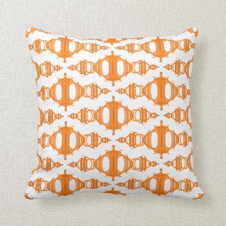 Almofada Branco feito sob encomenda da laranja abstrata dos