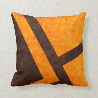 Almofada Brown amarelo, teste padrão abstrato do azulejo de
