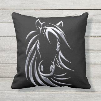Almofada Cabeça de cavalo de prata