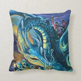 Almofada Cavaleiro azul do dragão