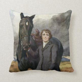 Almofada Cavalo preto da beleza do vintage do livro de