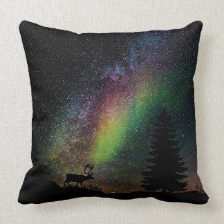 Almofada Cenário estrelado colorido da noite da natureza do