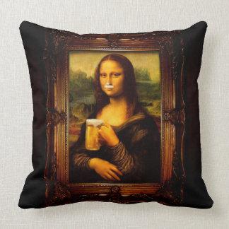 Almofada Cerveja de Mona lisa - de Mona lisa - lisa-cerveja