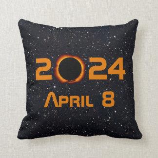 Almofada Céu estrelado da data total do eclipse 2024 solar
