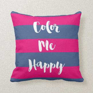 Almofada Colora-me travesseiro decorativo feliz