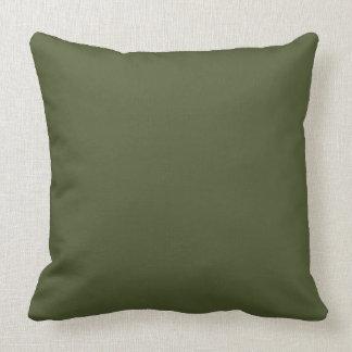 Almofada Cor moderna somente 4 do verde verde-oliva escuro