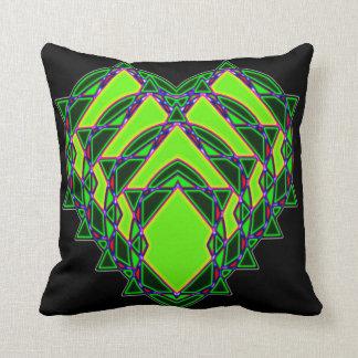 Almofada Coração verde abstrato