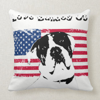 Almofada Coussin tissu Love Bulldog US