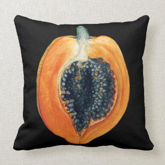 Almofada Coxim do preto da fruta da papaia