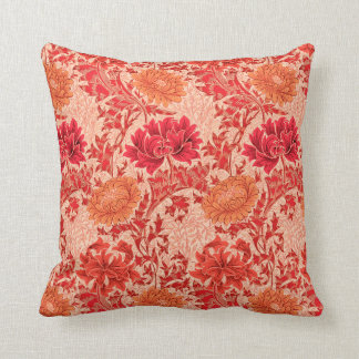 Almofada Crisântemos de William Morris, laranja coral