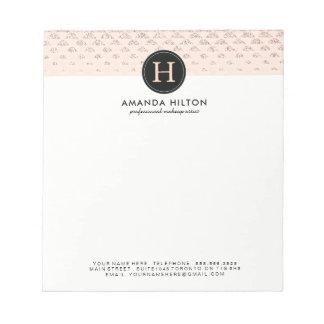 Almofada de nota cor-de-rosa customizável do bloco de notas
