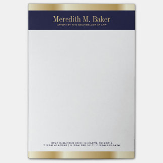 Almofada de nota do advogado sticky notes