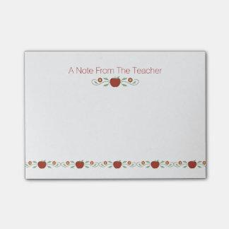Almofada de nota do post-it das maçãs do professor post-it note