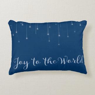 Almofada Decorativa Alegria à noite estrelado do mundo