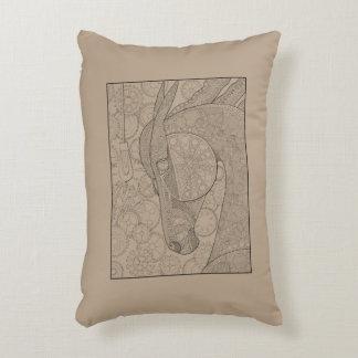 Almofada Decorativa Linha design dos cavalos-força da arte