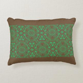 Almofada Decorativa teste padrão marrom do travesseiro com verde
