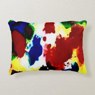 Almofada Decorativa Travesseiro abstrato preliminar das cores