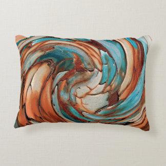 Almofada Decorativa Travesseiro decorativo azul da arte abstracta da